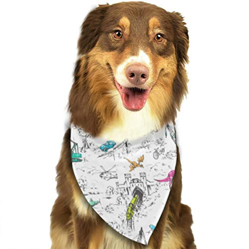 OURFASHION Adventure Toile Pop Mini Bandana Triangle Bibs Scarfs Accessories for Pet Cats and Puppies -