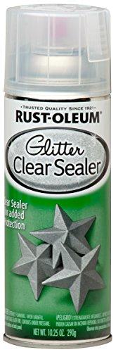 Rust-Oleum 267736 Spray Paint, Each, Glitter Clear Sealer