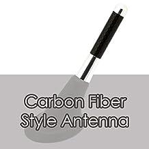 "Alpha Racing Universal 3"" SILVER Short Aluminum Carbon Fiber Printed Screw-on Car Radio Antenna for Alfa Romeo"