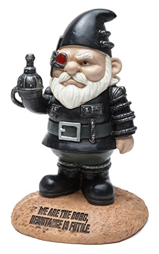 BigMouth Inc Officially Licensed Star Trek Borg Gnome Statue, Funny Lawn Gnome Statue, Garden Decoration by BigMouth Inc