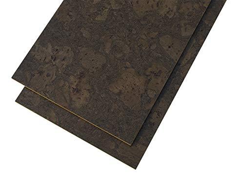 (Glue-down Cork Flooring 8mm Walnut Burlwood 18sq.ft per package)
