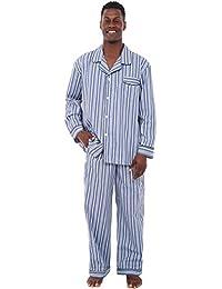 Del Rossa Mens Cotton Pajamas, Long Woven Pj Set