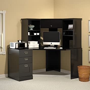 Bush Furniture MySpace Collection Stockport Classic Black Corner Desk Set