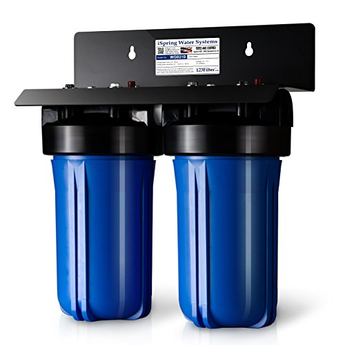 iSpring WGB21B 2-Stage Whole House Water Filtration System w/ 4.5''X10'' Sediment and Carbon Block Filters by iSpring