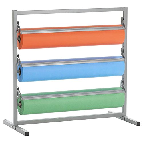 """Bulman T343R-27 27"""" Three Deck Tower Paper Rack with Serrated Blade"""