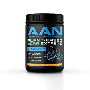 AAN Natural Plant Based BCAA Recovery Drink Vegan Friendly, Fermented BCAAs, Citrulline Malate, Beta Alanine Intraworkout, Post Workout and Pre Workout Protein