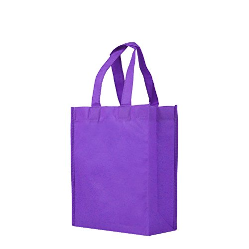Reusable Gift/Party / Lunch Tote Bags - 25 Pack - Purple