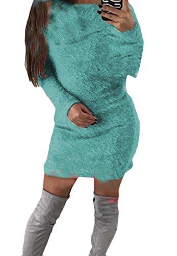 Elegante Solido Delle Vestibilità Superiore Tunica Aderente Coolred Parte Maglione Donne Pisello Del Dalla Maglia dxxqPnwTrf