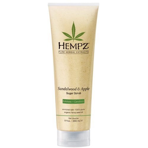 Hempz Herbal Body Scrub, Sandalwood And Apple 9 Ounce