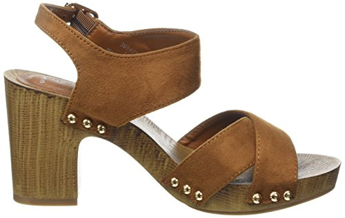 New Look Wide Foot Pushed - Zapatos Mujer Marrón - Brown (18/Tan)