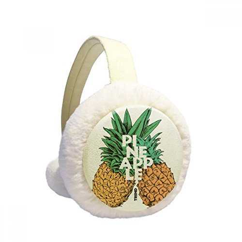 Pinapple Trend Couple Tropical Fruit Winter Earmuffs Ear Warmers Faux Fur Foldable Plush Outdoor Gift by DIYthinker