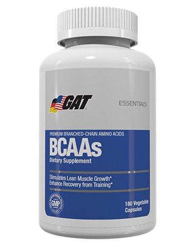 GAT Sport Essentials Series BCAAs, 180 Veg Capsule Bcaa 180 Capsules
