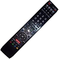 Replaced Remote Control Compatible for Sharp LC60LE657U RRMCGB004WJSA LC-60C6500U LC-46LE830U LC52LE810UN LC-60LE920UN LC46LE540U AQUOS LED LCD HD TV with NETFLIX 3D Button