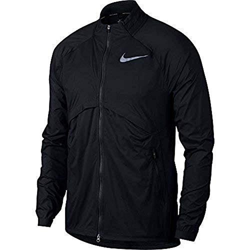 Nike Shield Convertible Men's Running Jacket Black Size XL 891432-010