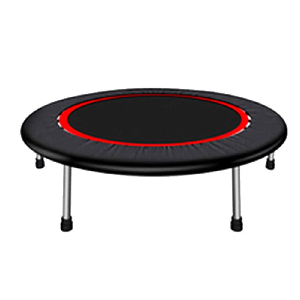 40-Zoll-Mini-Trampolin für Erwachsene, Sicherheitssprung-Übung Fitnessgeräte Kinder Trampoline Schwarz