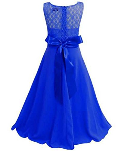 Girls' Party Lace Clothes Emmababy Blue Summer Evening Deep Fashion Sundress Little Rx5n1q1waT