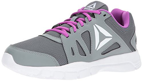 Reebok Womf Trainfusion Neuf 2.0 Piste Chaussure Alliage / Silex Gris / Vicieux Violet / Blanc