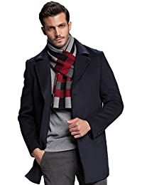 Men's Winter Warm Australian Wool Cashmere Feel Soft Knitted Gentleman Scarf with Gift Box
