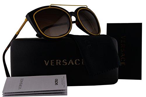 Versace VE4336 Sunglasses Havana w/Brown Gradient Lens 10813 VE - New Versace Sunglasses