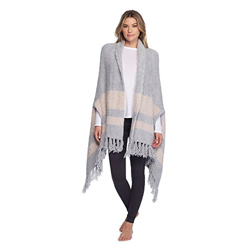 Barefoot Dreams CozyChic Malibu Wrap (Ocean/Stone) by Barefoot Dreams