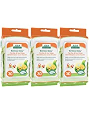 Aleva Naturals Bamboo Baby Pacifier and Toy Wipes   Natural and Organic Ingredients with Lemon Oil   Safely Cleans Bottles, Nipples, Cups   Extra Strong and Ultra Soft - Value Pack- 30ct x 3 (90 Wipes Total)