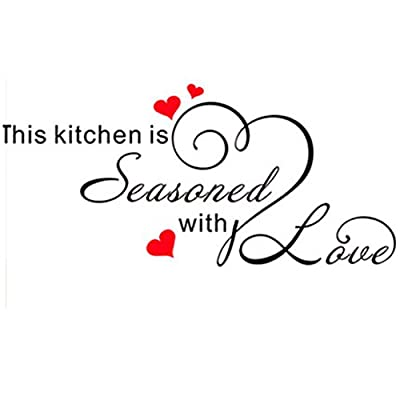 Freedi This Kitchen is Seasoned with Love DIY Home Art Decor Decal Wall Sticker
