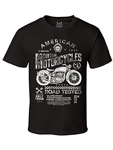 Gs-eagle Mens American Custom Motorcycle Graphic T-Shirt