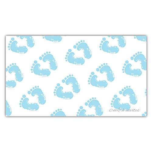 50 Blue Baby Feet Diaper Raffle Tickets - Boy Baby Shower Game by m&h invites (Image #3)
