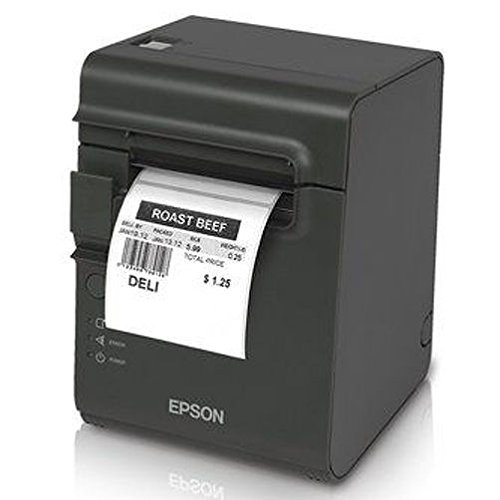 (Epson C31C412416 TM-L90 Plus Thermal Label Printer, USB/Serial Interface, Thermal Label, Without Peeler, With Power Supply, Dark Gray)