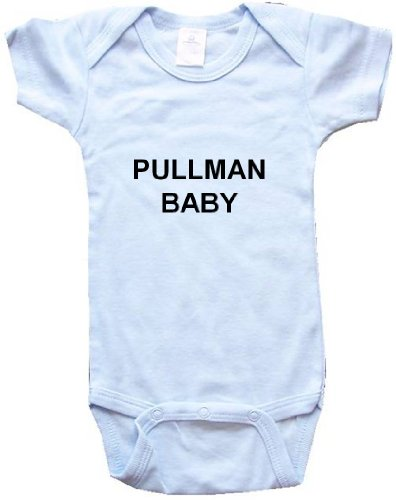PULLMAN BABY - City Series - Blue Baby One Piece Bodysuit - size Small (6-12M)