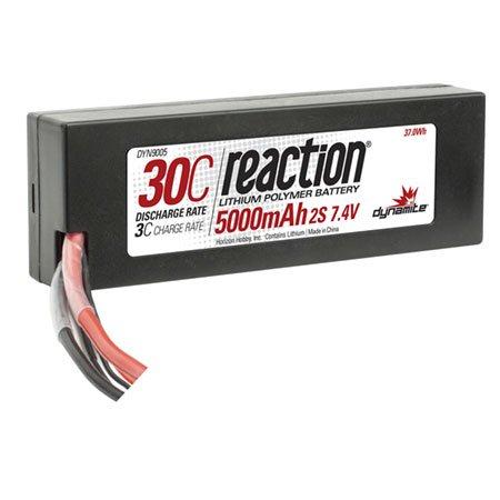 (Dynamite Reaction 7.4V 5000mAh 2S 30C LiPo Hard Case: TRA Battery)