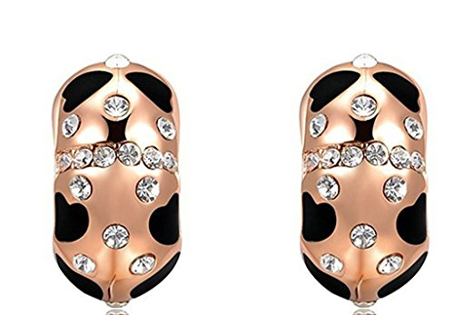 [AmDxD Jewelry Gold Plated Women Stud Earrings Rose Gold Insect Shaped 1.12.1CM] (Diy 80s Fancy Dress)