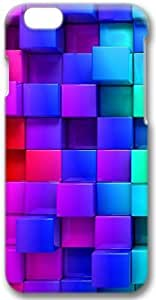 3D Colorful Cubes Apple iphone 6 4.7 Case, 3D iphone 6 4.7 Cases Hard Shell Cover Skin Casess