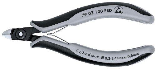 (KNIPEX 79 02 120 ESD Precision Elec Diagonal Cutters Comfort Grip)