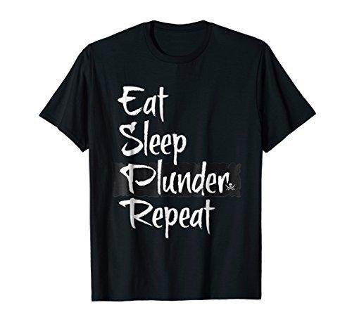 (Bliptee Gamer Eat Sleep Plunder Repeat T Shirt)