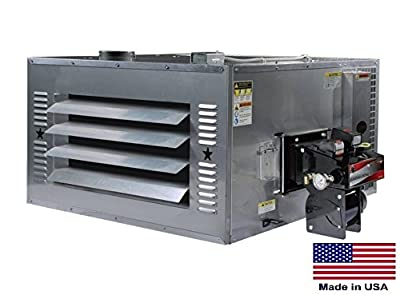 Waste Oil Heater Commercial - 200,000 Btu - Incl Tr Chimney Kit & 80 Gal Tank