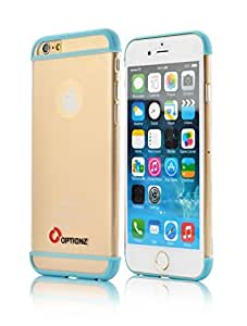iPhone 6 Case, Optionz Apple iPhone 6 (4.7) Ultra Thin Clear Case Flexible Soft TPU Bumper Case with Clear Back Panel (blue)