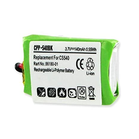 Pl 86180 01 84479 01 Li Pol 140ma Replacement Battery For Plantronics Cs540 C054 Wireless Headset Headphones Repair For 86180 01 Rechargeable Li Polymer Battery Office Products Office Electronics