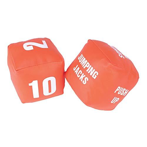 American Educational Products Cubes with Actions Numbers Fitness Dice, Set of 2