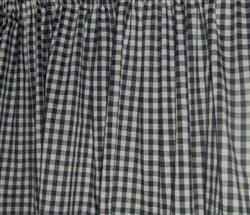 WINDOW CURTAIN VALANCE MADE FROM Black White Gingham Cotton FABRIC