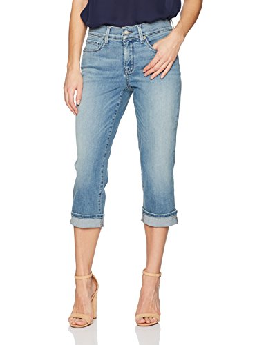 NYDJ Women's Marilyn Crop Cuff Jeans, Pacific, 8