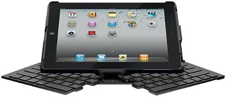 Logitech Fold-Up Keyboard for iPad 2 Teclado para móvil Negro QWERTY Bluetooth - Teclados para móviles (Negro, De plástico, Estándar, iPad 2, QWERTY, ...