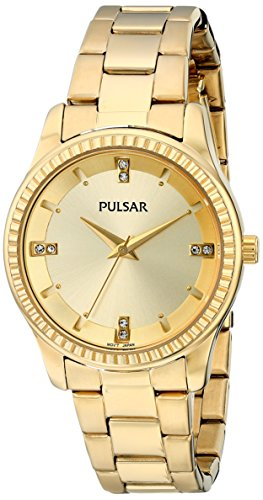 Pulsar Women's PH8102 Easy Style Collection Analog Display Japanese Quartz Gold Watch