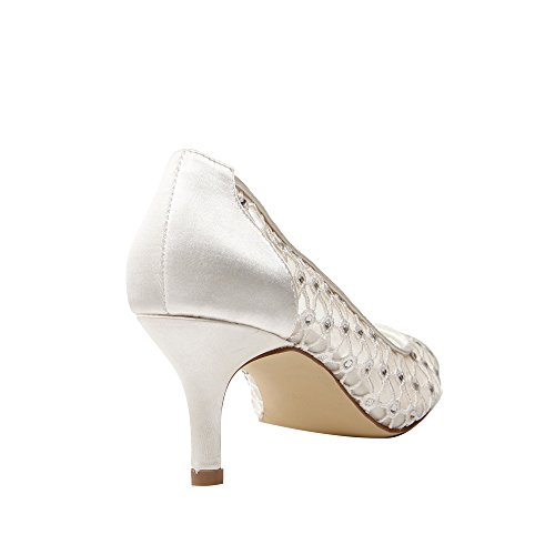 Brautschuhe Breeze by Paradox London Pink in Ivory Satin