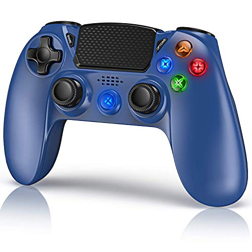 Mando para PS4, Gamory Mando Inalámbrico para Playstation 4 / PS4 Slim / Pro / PS3, 3D Sensores de Movimiento Panel táctil 3.5mm Puerto de Audio Bluetooth Gamepad Joystick