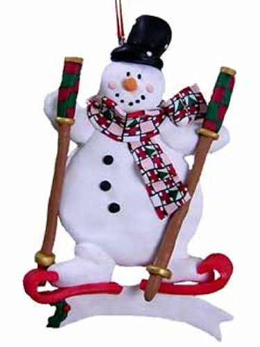 Clay Snowman Ornaments with Black Hat [3097371A] (Northstar Ornament)