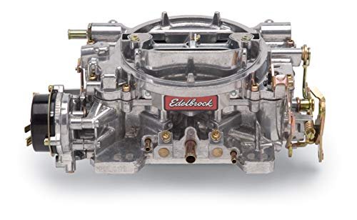 (Edelbrock 1406 Performer 600 CFM Square Bore 4-Barrel Air Valve Secondary Electric Choke)