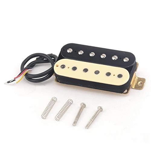 Musiclily Pro 52mm Alnico 5 Humbucker Bridge Pickups for Strat Les Paul Electric Guitar, Zebra