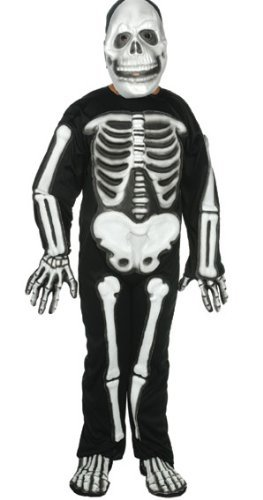 RG Costumes Skeleton with 3D EVA Bones, Child Small/Size 4-6