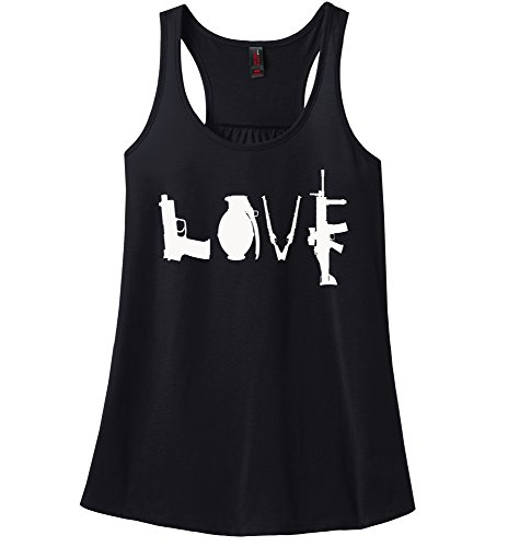 Comical Shirt Ladies Gun Love T Shirt Pistol Rifle 2nd Amendment Black XL